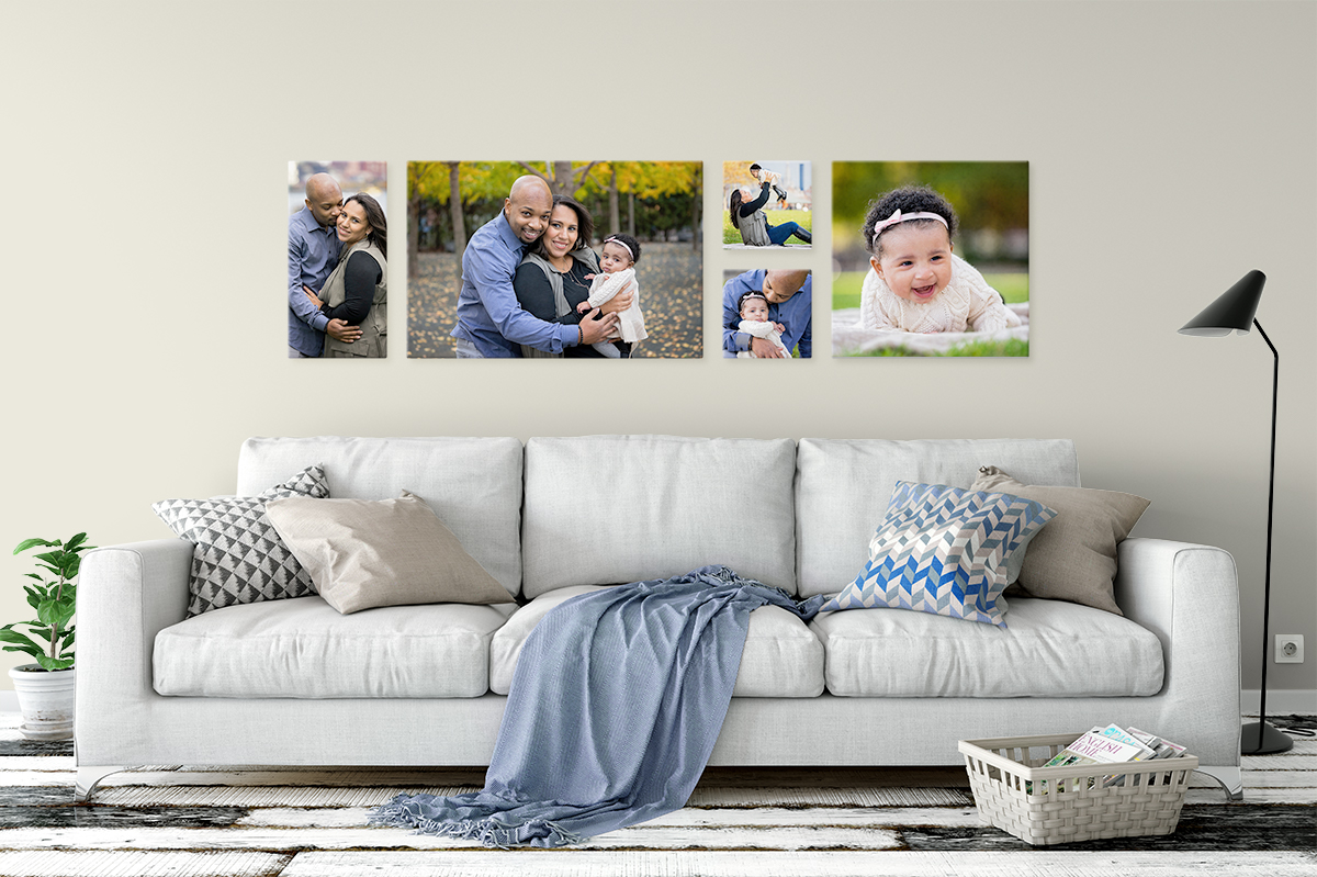 Family Portraits Canvas Grouping